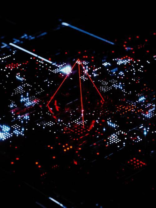 Technological circuit wallpaper