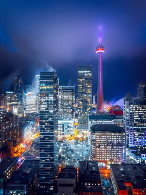 Papel de parede do Paisagem urbana de Toronto para celulares e tablets