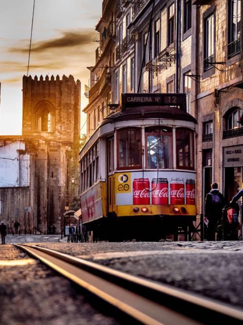 Tram in Lisbon wallpaper