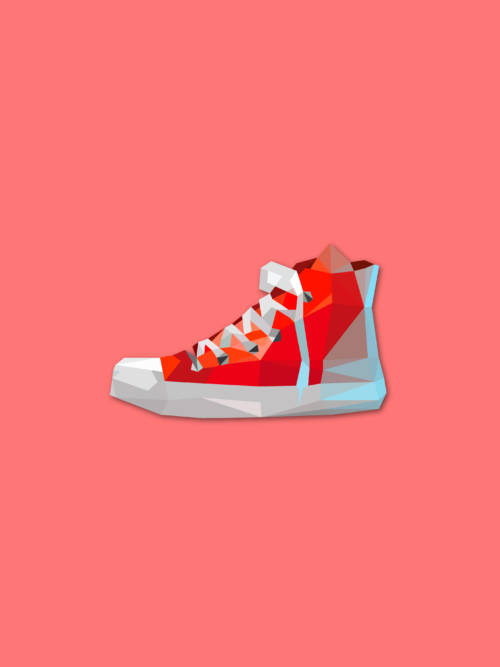 Vector sneakers wallpaper