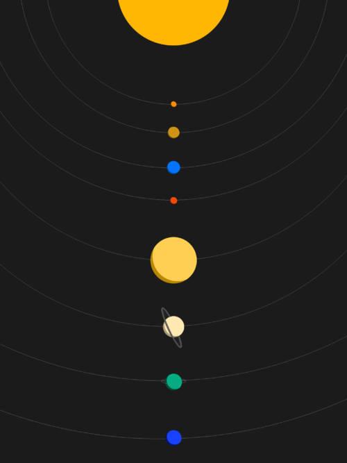 Fondo de pantalla de Sistema solar vectorial