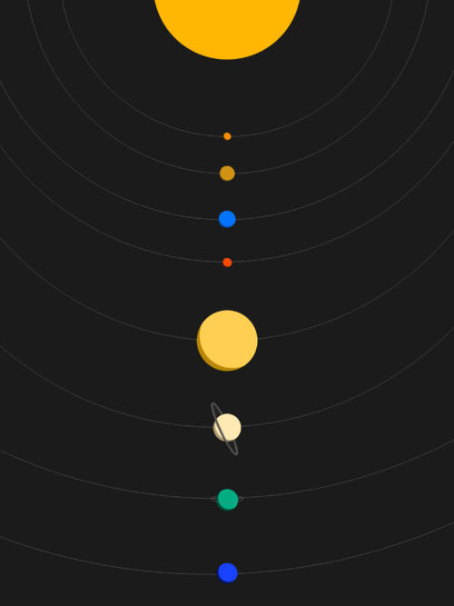 Papel de parede de Sistema solar vetorial