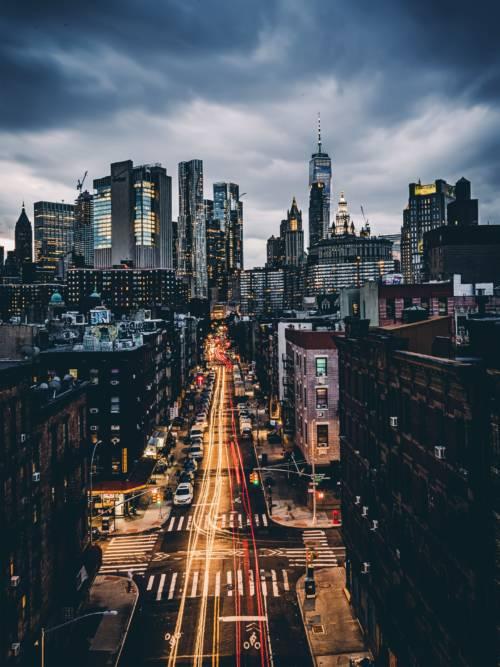 Papel de parede de Vista da ponte de Manhattan