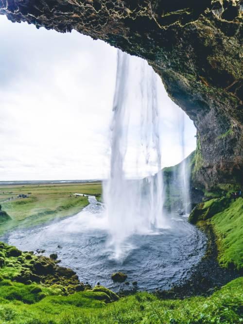 Papel de parede de Cachoeira na Islândia