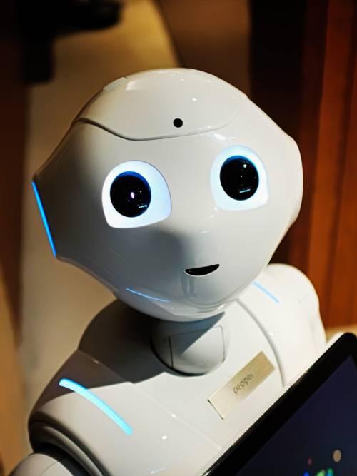 Fondo de pantalla de Robot blanco