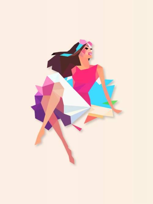 Woman vector wallpaper