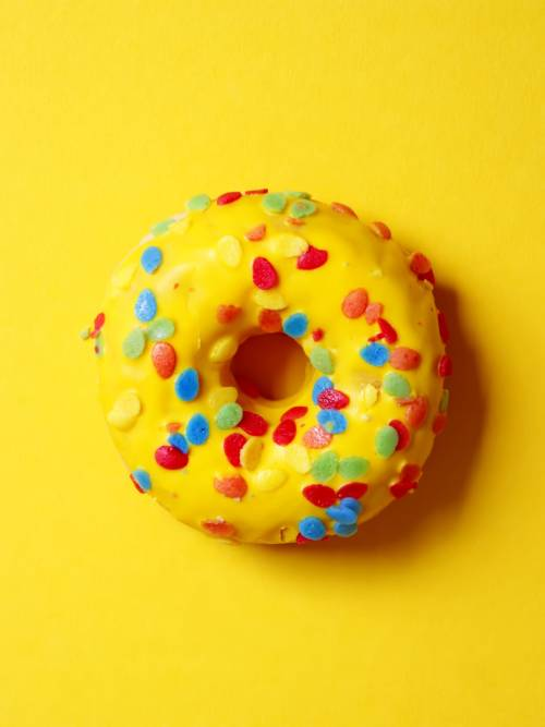 Yellow donut wallpaper