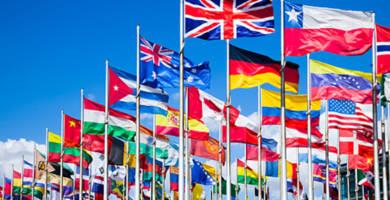 Fonds d'écran de drapeaux et de boucliers